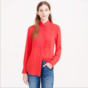 J. Crew | Drapey Tuxedo Button Blouse Red Size 4